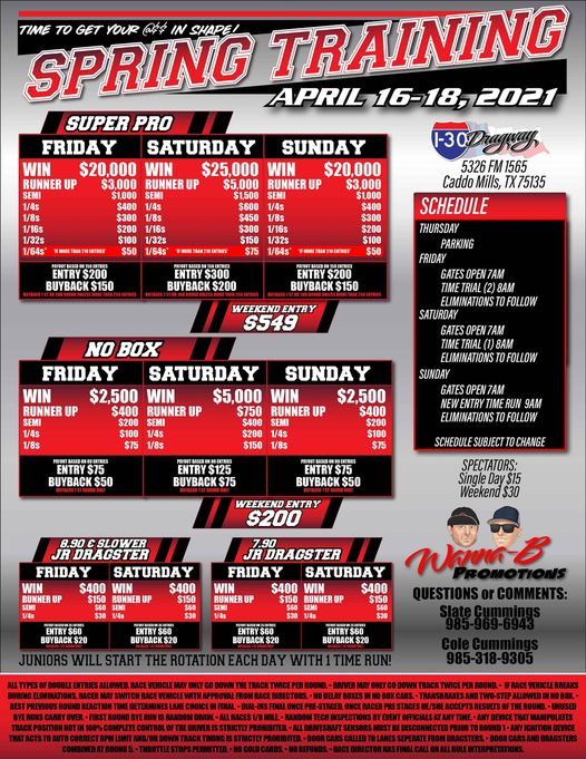 wanna-b promotions spring training event flyer