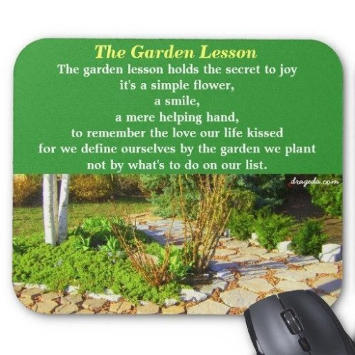 The Garden Lesson Verse on a Mouse Pad
