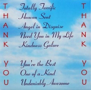 Thank You Card Sayings