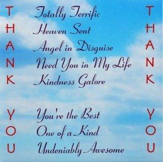 Fridge Magnet - Thank You