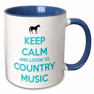 Keep Calm and Listen to Country Music Mug