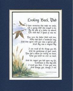 Looking Back Dad Poem