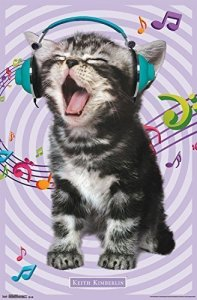 Cute Singing Kitty Poster