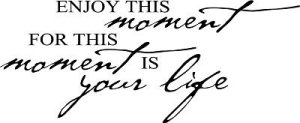 Enjoy this Moment Wall Quote