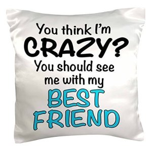 Best Friend is Crazy Pillow