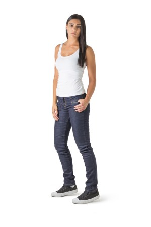 DRAGGIN TWISTA LADIES BLUE Skinny ladies motorcycle jeans Skinny fit kevlar jeans for ladies front