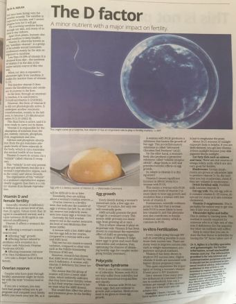 Vitamin D article The Star pg2
