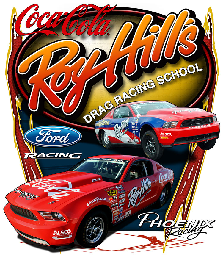 roy hill s named official drag racing school of ford racing drag illustrated drag racing. Black Bedroom Furniture Sets. Home Design Ideas
