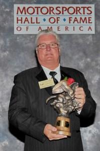 Steve Chrisman accepts MSHOFA induction award on behalf of his father, Jack Chrisman