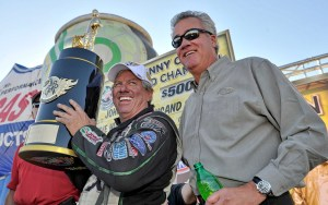 John Force and NHRA President Tom Compton