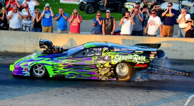 Pro extreme number-three qualifier Frankie Taylor made it to the quarter finals at the PDRA Summer Drags, but fell to sixth-place starter Brandon Snider.