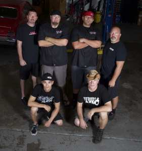 Daddy Dave, Murder Nova, Big Chief, Chuck, AZN and Farmtruck gathered at Midwest Street Cars in Oklahoma City for their DI cover shoot.