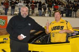 Crew chief Steve Petty and Troy Coughlin Sr.