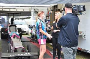 In addition to in-car experience, Megan gained media experience in this interview that aired on the Fox Sports 1 Pro and Sportsman shows.