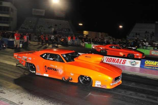 Pro Nitrous Winner Jay Cox Near RU Stevie Fast Jackson far_660