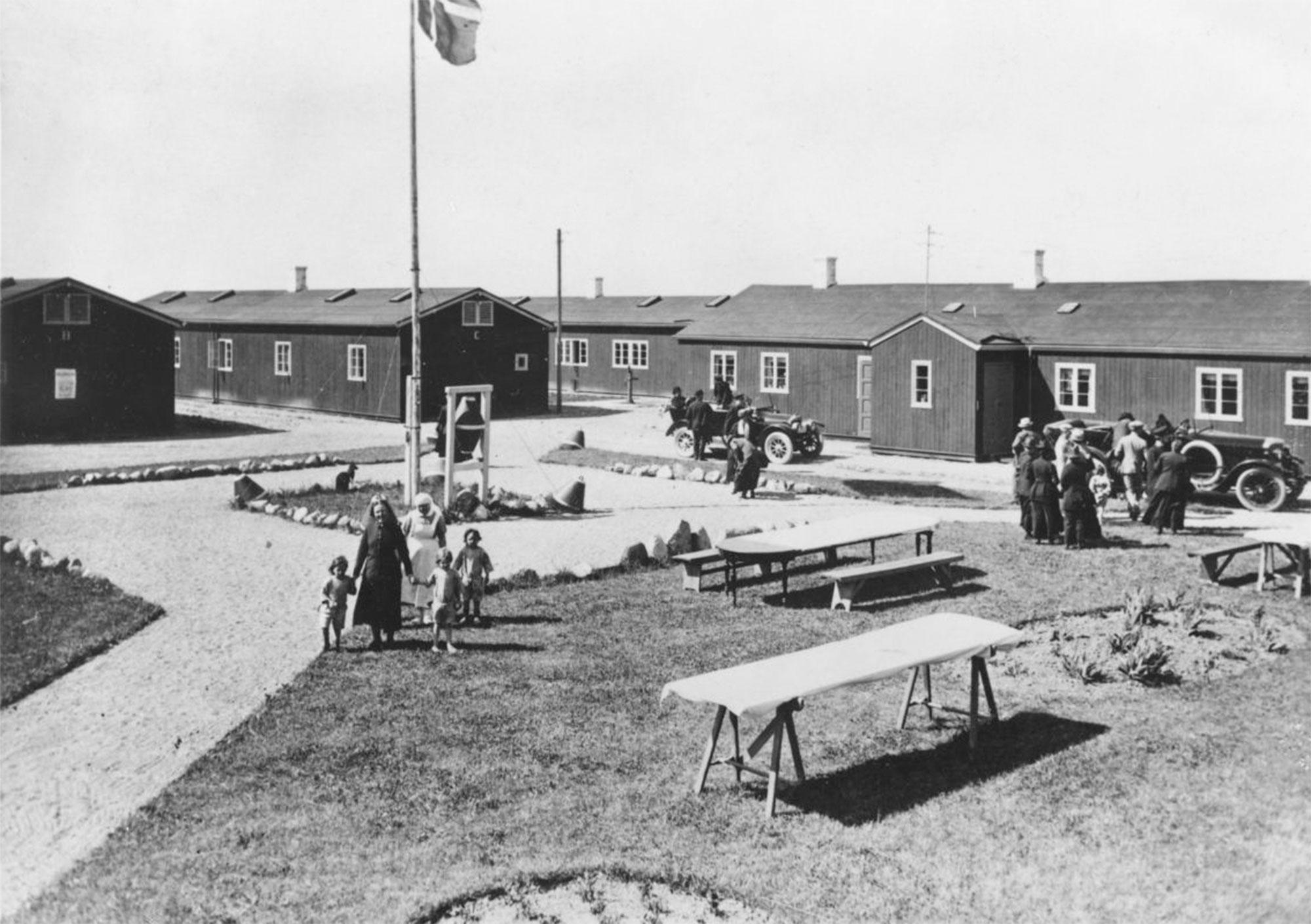 Baggersmindelejren blev i 1920 sommerkoloni for børn fra København. Foto: Historisk Arkiv Dragør.