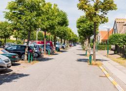 Konservatives forslag om at gøre plads til cykler på den lille vej, der går parallelt med Vestgrønningen blev vedtaget i BEPU. Sagen skal nu behandles i kommunalbestyrelsen. Arkivfoto: Thomas Mose.
