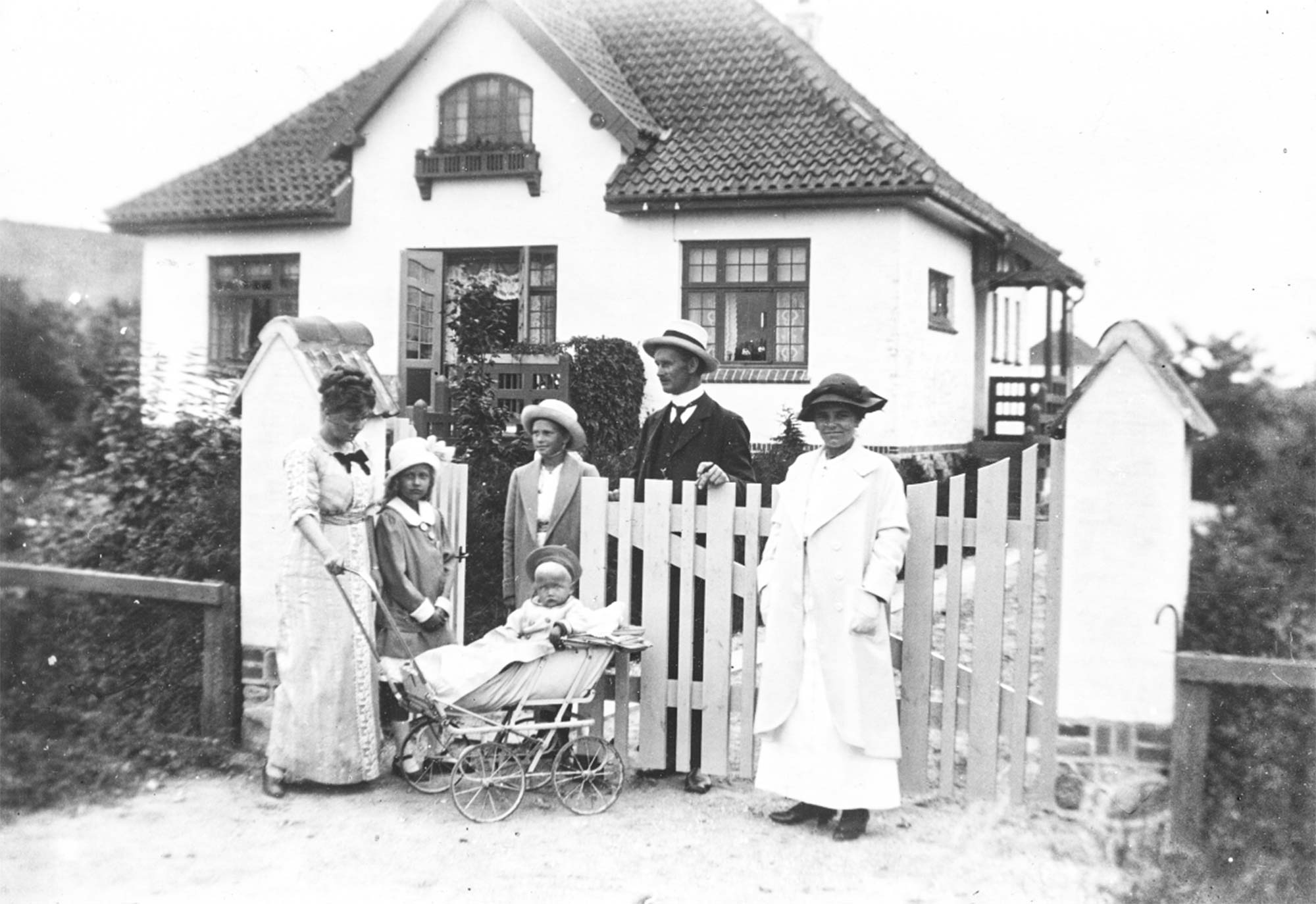 Villa Grænsen, hvor bomforpagter Peter Zibrandtsen boede med sin familie i 1914. Foto: Historisk Arkiv Dragør.