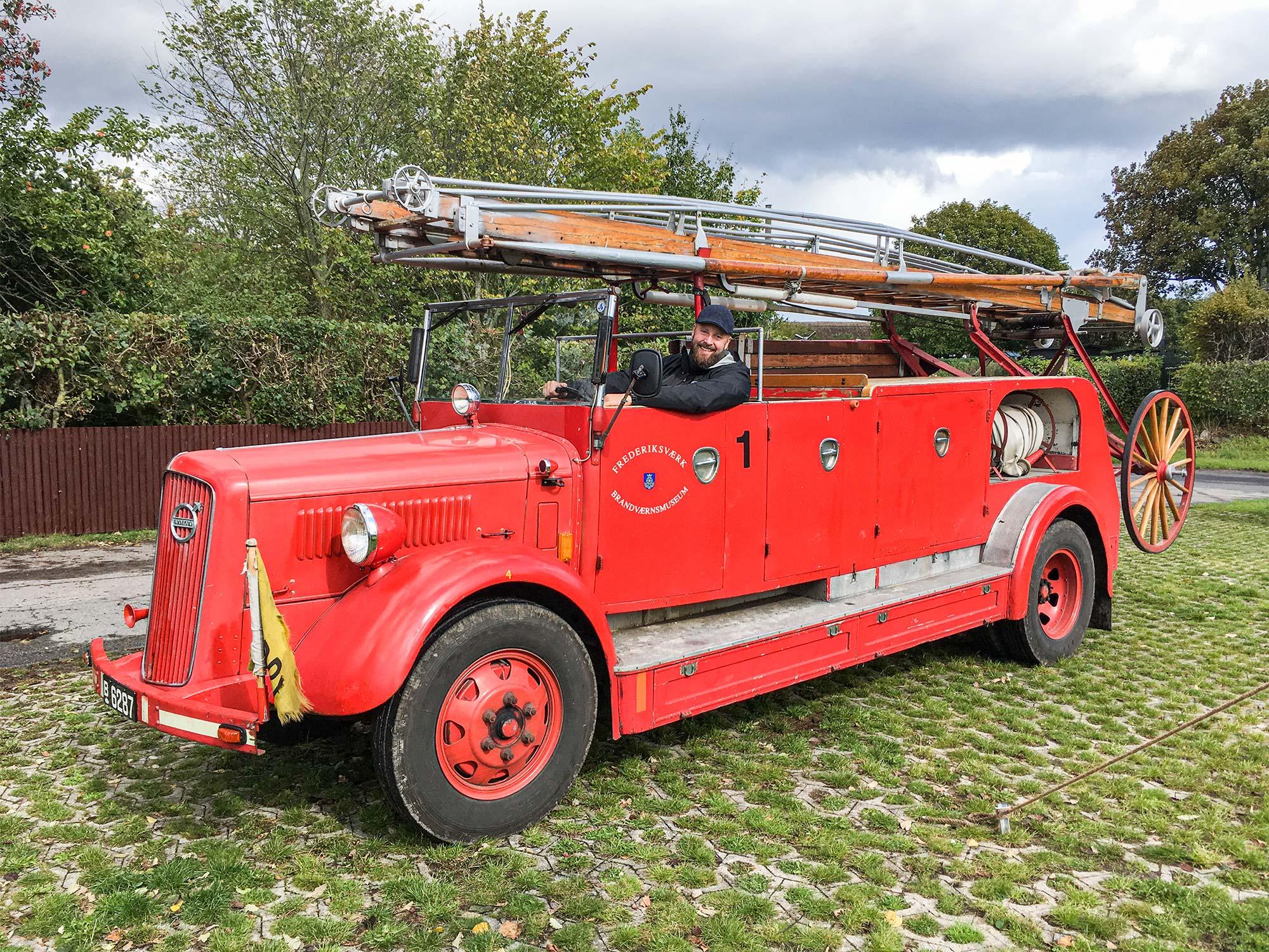 Den gamle brandbil fra Frederiksværk Brandværnsmuseum kommer på besøg på Amagermuseet i efterårsferien.