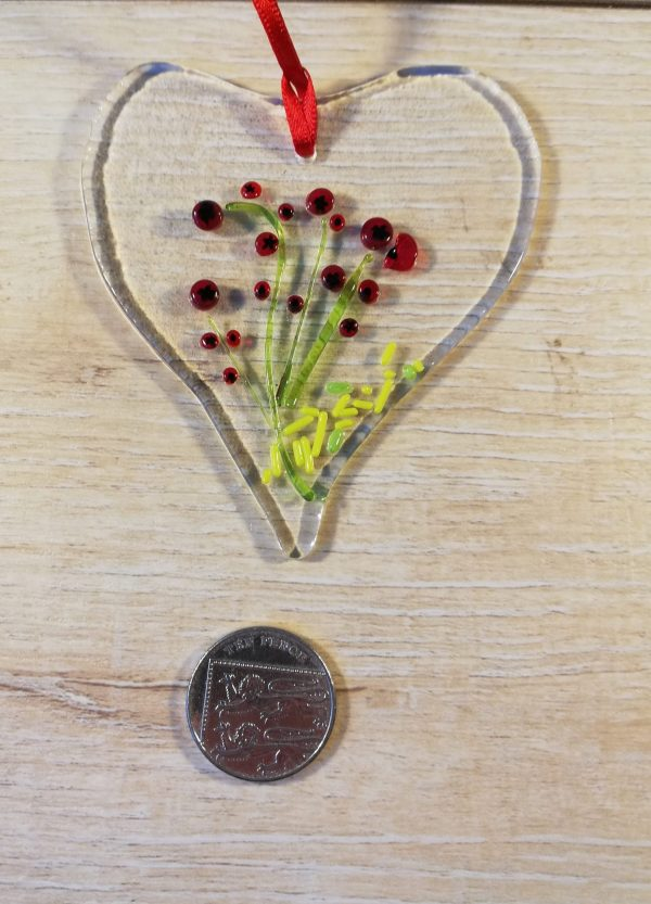 Floral heart - poppies