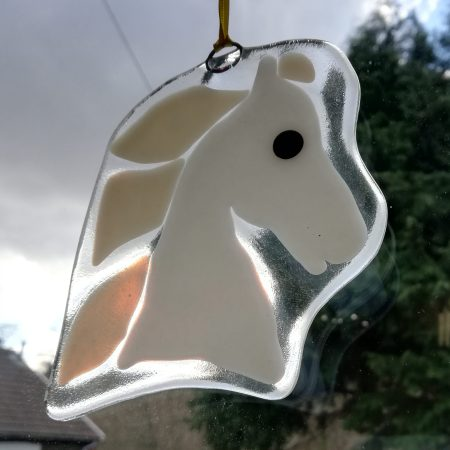 Window view horse head