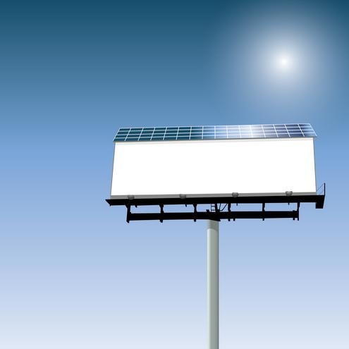 Vector - Solar Powered Billboard 05 by DragonArt