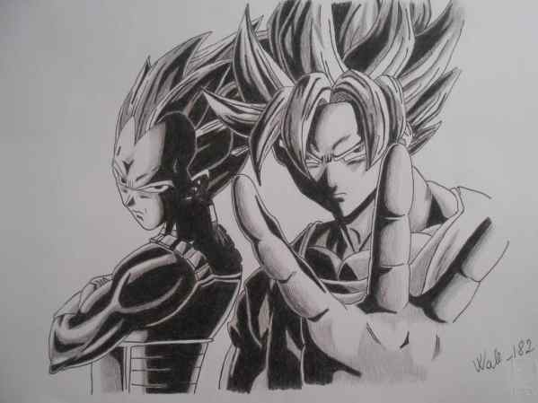 Dragon Ball Z Drawings In Pencil Dragon Ball Z Drawings In Pencil Dragon Ball Z Goku And Vegeta - Kids Drawing