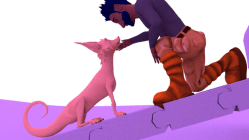 Sometimes we wonder if the animation is actually a movie about a man with too much love for his dog.