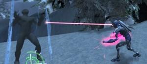 Eye beams firing, power gauntlet charging!