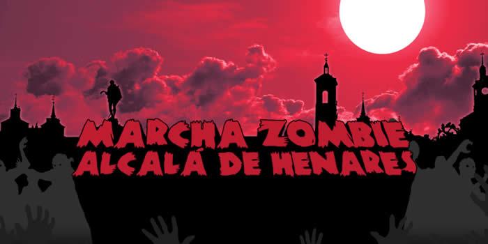 Cartel de la marcha zombie de Alcalá.