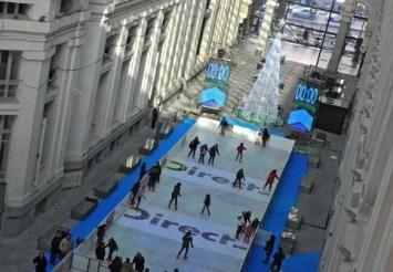 Pista de hielo de la Galería de Cristal, en Cibeles.