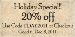 20% off holiday special