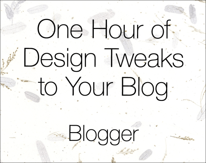 blogger-tweaks