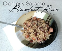 Cranberry Sausage Breakfast Rice