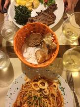 Tasty meal in Rome.