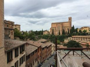 Looking out over Siena.