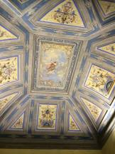 One of many epic ceilings in the Uffizi Gallery.