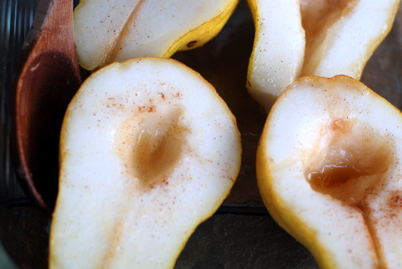 Pears Poached in White Wine and Maple Syrup Make a Charming Dessert