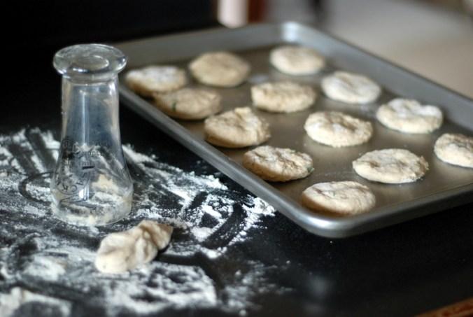 herb biscuit dough