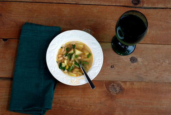 potato soup on porch