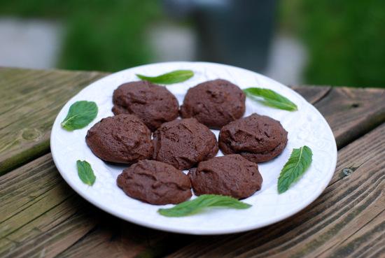chocolate mint cookies 9