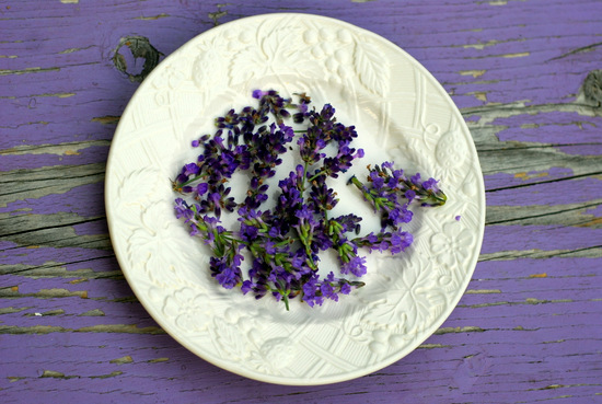lavender on plate 2