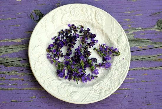 lavender on plate 2