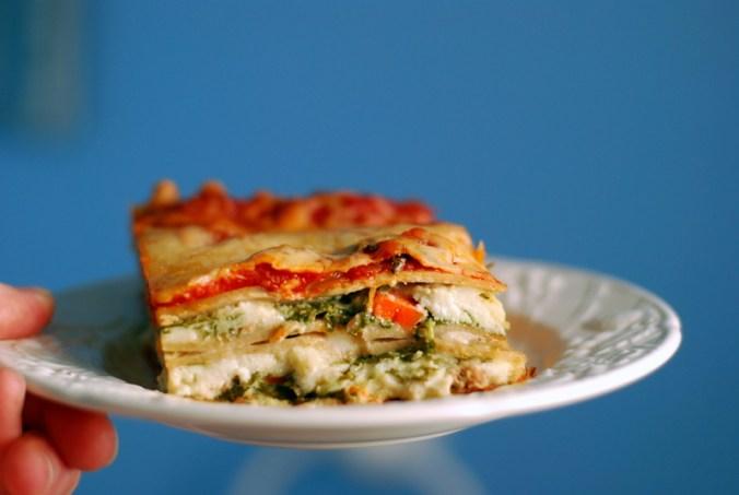 lasagna against blue 7