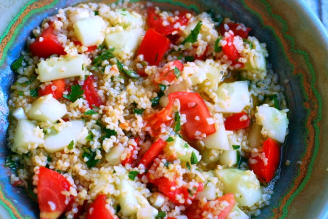 close up tabbouleh