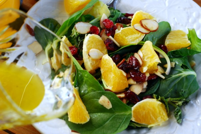 winter salad with dressing 2