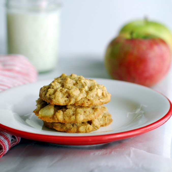 oatmeal-apple cookies