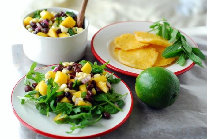 black bean-mango salsa
