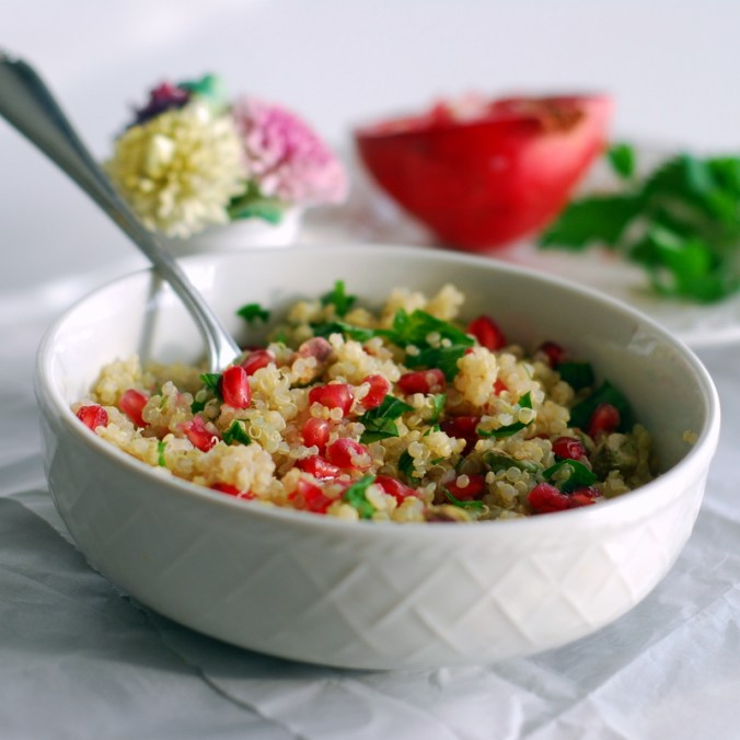 pomegranate quinoa