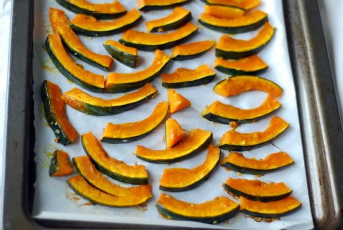 kabocha squash slices